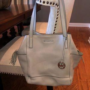 Michael Kors Gray Grey Leather Handbag Hobo